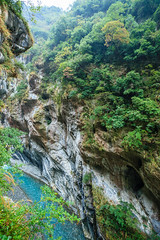 Taiwan-121116-427 (Kelly Cheng) Tags: travel color colour green tourism nature water vertical river landscape daylight colorful asia day outdoor taiwan nobody nopeople canyon colourful tarokonationalpark tarokogorge  traveldestinations  northeastasia