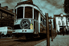 A Fine Tipple (Andy Gant) Tags: urban bw irish portugal sepia lisboa lisbon transport streetscene advertisement advert trams portuguese bwphotography jameson selectivecolour irishwhiskey bweffect bwimages bwimagesfromaroundtheworld