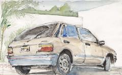 Carro de un amigo (jc_figuera) Tags: boceto dibujo sketch urbansketch croquis drawing painting watercolor watercolour acuerelas akvarell caracas car carro