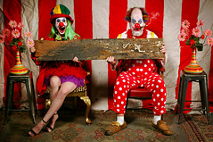 The Circus was their home, and the Circus was on the Road. But they kept a Board at Home. (Studio d'Xavier) Tags: werehere boredathome boardathome circus binky clown clowns 365 august22016 215366