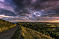 The path (Explored 08/07/16) (Andy2305) Tags: worcesterbeacon worcestershire malvernhills landscape sunset dusk sky clouds herefordshire explored