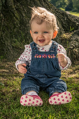 It'sin her laugh (Wayne Cappleman (Haywain Photography)) Tags: park portrait baby playing photography george king wayne hampshire fields farnborough fifth haywain cappleman