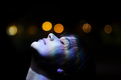 breathe (delicatelyshattered) Tags: night nikon colorful bokeh portraiture distort d7000