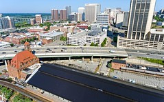 High above Historic Main Street Station (Sky Noir) Tags: street station train downtown main 4 richmond va phantom trainshed rva i95 drone dji