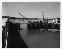 Barkley Dam Construction (NashvilleCorps) Tags: barkley barkleydam kentucky usace corpsofengineers nashvilledistrict cumberlandriver 1964 cofferdam construction