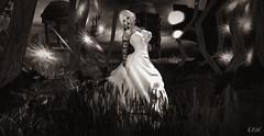 Fairy Tale Bride B&W (erikmofanui) Tags: sexywoman bride secondlifephotography secondlifeavatar gorgeous bridal secondlifeportrait bw contrast