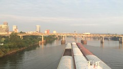 IMG_4496 (justpics2007) Tags: barges arkansasriver littlerock bruceoakley morning sunrise