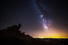 The watcher (daviddelossan) Tags: milky way night long exposure stars dark summer light d750 nikon 1424 watcher man rocks