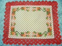 38 (AneloreSMaschke) Tags: tecido xadrez bordado artesanato flores