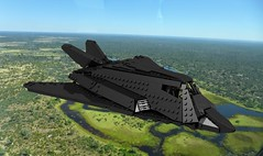 A-117 Duskfalcon (John Moffatt) Tags: lego digital designer ldd4plane aircraft tactical bomber attack bomb nighthawk stealth fighter but actually v tail delta wing pain suffering jet