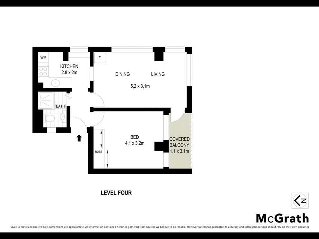 Floorplan for 42 22 waruda street kirribilli nsw 2061 for Kirribilli house floor plan