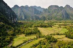 DSC_6397 (seanatron123) Tags: laos asia nikond5100 vangvieng viewpoint karst mountains fields trees phapoak