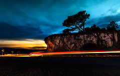 Night road (_davor) Tags: 180 clouds croatia istria long mountain tree back bend cars country curve driving evening exposure freeway headlights highway light lines mountains movement night road roads shoulder summer tail traffic trails traveling turn twilight yellow plomin