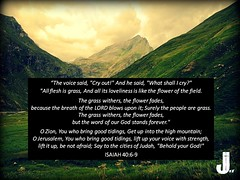 Isaiah 40:6-9 (pastorjoshmw) Tags: isaiah 4069 scripture bible calltoworship isaiah40