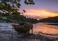 Lost To Time And Tide (brwestfc) Tags: mill creek devon decay sunset boat water autumn