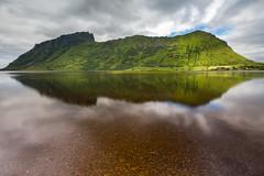 Crocodile (marcovannotti) Tags: nature mountain norway lofoten lake water reflection norwegen see spiegelung landscape sun