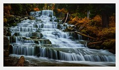 The Fall - Joffre Lakes (fernandobrandaodebraga) Tags: longexposure reflection 10stopper polorizer ndfilter hiking trees waterfall water sigma19mm sonya6000 fall joffrelake canada vancouver bc