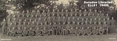 1940s: Swindon Homeguard (Local Studies, Swindon Central Library) Tags: swindon wiltshire ell01 ww2 homeguard uniform group men 1940s bw