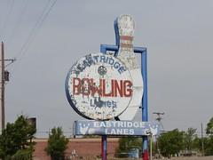EASTRIDGE LANES AMARILLO TEXAS ROUTE 66 (ussiwojima) Tags: sign advertising route66 alley neon texas ghost bowl amarillo bowling eastridgelanes