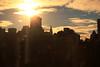 (eflon) Tags: city nyc sunset sun ny newyork skyline manhattan flare chrysler bldg bldgs