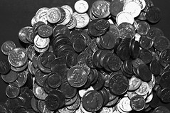 2014_1118Spare-Change-B&W0005 (maineman152 (Lou)) Tags: november bw coin coins maine change bwphoto blackandwhitephoto madmoney rainydayfund christmasstashofcoins savedpocketchange