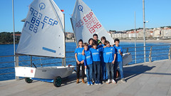 El equipo Abanca Movistar del RCNS en el Ciudad de Palma