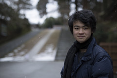 Me (MeltedFrost) Tags: people snow art japan canon 50mm kyoto bokeh snowy sigma 5d 50mmf14 hiei 5d3 5diii