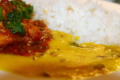 Fish curry, daal served with boiled rice (WorldClick) Tags: life food fish canon photography eos photo yummy flickr photographer rice indian spice salt vivid dal powder east photograph delight pakistani click chilli capture tilda turmeric cumin boiled eastern haddock lentils haldi flavour daal lentil cusine jeera phototgraphy fishcurry dhaniya 1100d zeera canoneos1100d worldclick daalservedwithboiledrice