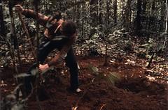 Filling up (KarstenThomsen1) Tags: ecuador rainforest profile soil napo sampling yasun