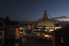 Boudhanath Stupa during Dipawali (phhesse) Tags: nepal oktober olympus ktm kathmandu omd 2014 em10