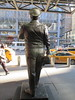 Ralph Kramden on a Sunny Day 3640 (Brechtbug) Tags: new york city winter holiday cold bus weather statue bronze port lunch is jackie uniform day authority january tie sunny front terminal an midtown his while chilly jolly gleason ralph stands drivers straightening pail clutching clad manhattans honeymooners 2015 kramden eightfoottall kramdon 01082015