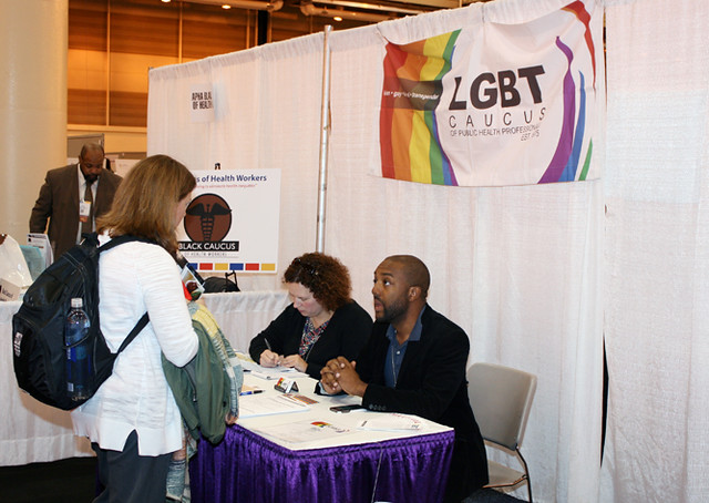 LGBT Caucus booth