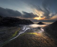 *** (Krasi St Matarov) Tags: sea sun seascape black reflection nature water yellow clouds sunrise landscape nikon rocks ngc wave bulgaria pwlandscape