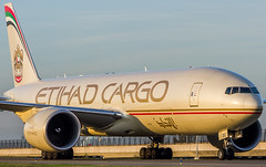 "Etihad Boeing 777F taxiing over taxiway Q • <a style=""font-size:0.8em;"" href=""http://www.flickr.com/photos/125767964@N08/15696867450/"" target=""_blank"">View on Flickr</a>"