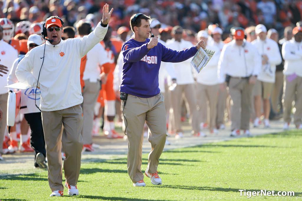 Clemson Photos: 2014, South  Carolina, Football, Chad  Morris, Dabo  Swinney