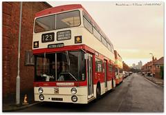 Manchester Atlanteans (zweiblumen) Tags: uk england bus manchester 1968 1001 parkroyal polariser greatermanchester museumoftransport cheethamhill canoneos50d leylandatlantean manchestercorporationtransport zweiblumen alltypesoftransport hvm901f