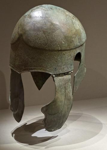 Bronze 'Chalcidian'-type helmet in Cleveland 1