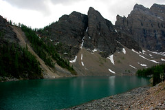 east cirque Agnes Lake (f.arseneault) Tags: summer vacation mountain lake canada tree tourism nature beauty forest landscape rockies outdoors view famous hill scenic peak tourist resort massive banff range slope