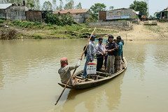 Travelling in target group area in Sunamgunj, Bangladesh. Photo by Finn Thilsted. (WorldFish) Tags: asia health bangladesh nutrition
