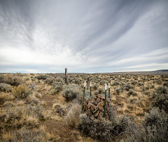 One More Oregon Fence and Sky Shot (channel locks) Tags: california oregon fence highway395 nikond7000 1024mmf3545g oregontripoct2014