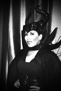 Maleficent B&W Portrait