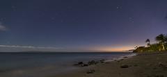Happy Holidays! (hawaiiansupaman) Tags: sunset mars beach stars hawaii sand maui palmtrees moonlight olowalu milkyway