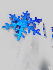Snowflake (allfalldown) Tags: snowflake christmas blue winter snow frozen decoration experience express polar icy