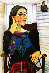 Dora Maar (AlbaEvaMartnez) Tags: portrait retrato picasso fotografa cubismo doramaar reinterpretacin