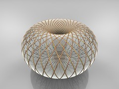 Inverted Hyperboloid (fdecomite) Tags: circle math inversion povray