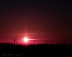 Raspberry sky (GemElle Photography) Tags: sun windmill sunrise nikon ray flare nikkor turbine gemelle doncaster thorne d610 2485 gemelle1 gemellephotography