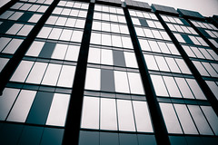 Tetris Downfall - London City Office Life (On Explore 12th Dec 2014) (Simon & His Camera) Tags: city urban bw abstract building london tower geometric window glass lines vertical wall architecture composition contrast office lookingup diagonal explore tetris simonandhiscamera