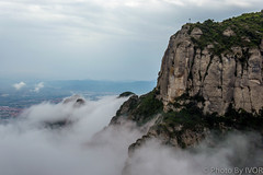 Montserrat (Photos By Ivor) Tags: cloud mountain spain catalonia montserrat
