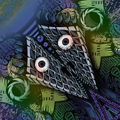 El templo de Momo / Momo's temple (Martn Pepino) Tags: art illustration digital ink paper temple momo martin rey psychedelic alejandro pepino