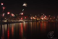 Fireworks over the Rhine 4 (NB Photography ~) Tags: new colors colours fireworks cologne celebration years rhine rhein silvester